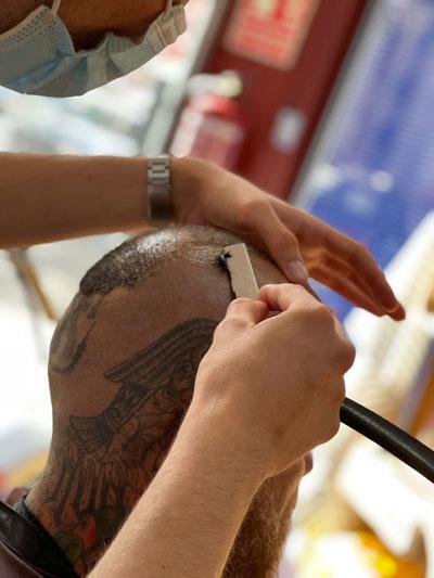 Corte de pelo con cuchilla, Barber Shop en Puerto de Mazarrón